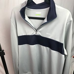 IZOD Golf | Size L/G. Mens Gray and Navy Half Zip